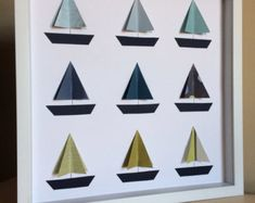 Boat, 3D Paper Art, Sail boat nursery, Nautical Nursery, Nautical theme, boat, nursery decor, by PaperLine