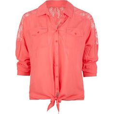 coral blouse, with a lace back! to die for!!!