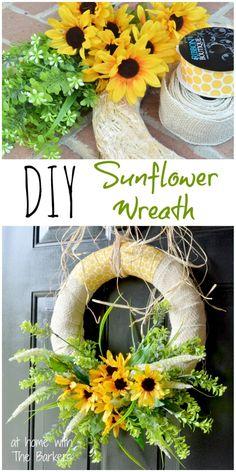 Summer Sunflower Wreath-DIY