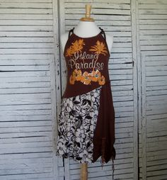 Island Paradise TShirt Dress S Upcycled Dress door AnikaDesigns, $58.00