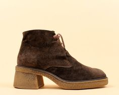 90s Vtg CHUKKA Suede Leather Desert Ankle Boot / Lace by nanometer, $82.00
