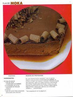 Flan of mocha - Flan of mocha - Flan, Tapas, Cocoa, Tiramisu, Make It Simple, How To Memorize Things, Ethnic Recipes, Desserts, Floors