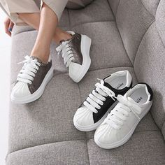 Women's BELLUCCI Canvas Platform Shoes Of Synthetic Leather Casual Sneakers #DreamTree #Creepers #Casual