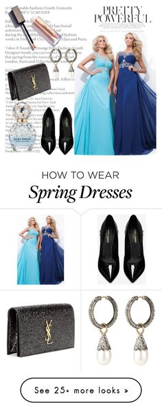 """""""Chiffon Prom Dresses With Beaded"""" by johnnymuller on Polyvore featuring Yves Saint Laurent and Marc Jacobs"""