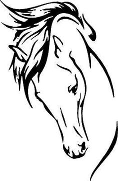 """HORSE HEAD FLOWING MANE  WALL ART   16"""" X 10.5""""    Many Colors AVAILABLE"""