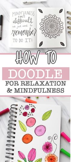 How Doodling Can Help With Relaxation and Mindfulness ⋆ The Petite Planner Bullet Journal How To Start A, Bullet Journal Layout, Bullet Journal Inspiration, Doodle Inspiration, Creative Inspiration, Design Inspiration, Doodle Sketch, Doodle Drawings, Simple Doodles