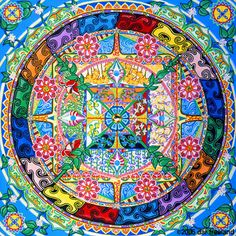 Venerable Lama Losang Samten walks us through the symbolism and meaning in The Wheel of Life, an ancient Buddhist sand mandala. Sand Painting, Sand Art, Illustrations, Illustration Art, Tibetan Art, Tibetan Mandala, Sacred Architecture, Design Graphique, Mandala Art