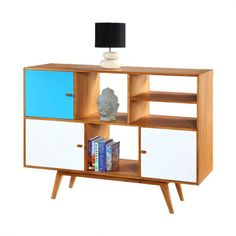 Smuk Bogreol i retro-stil - Oldstyle - Gratis Fragt - Hurigt Levering. Wood Drawers, Bookshelves, Bookcase, Cube Unit, Retro Stil, Hazelwood Home, Wood Construction, Indonesia, Home