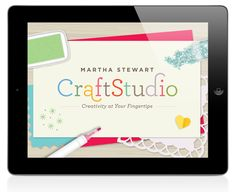 """The Martha Stewart CraftStudio App is an easy-to-use program that allows you to personalize cards, invitations, thank-you notes, scrapbook pages, keepsakes, and more with an array of colored and patterned """"paper"""" backgrounds, photos, and stickers, stamps, glitter, textured borders, fonts, and punches."""
