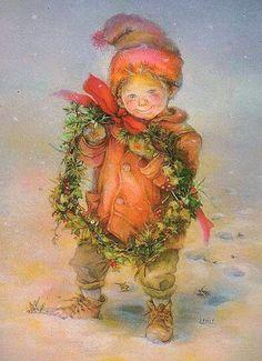 wreath -- Lisi Martin (1944, Spanish); Theme: Christmas and children