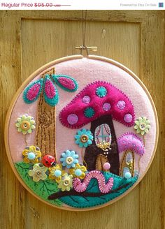 Fairyland - Hand Embroidery in 21cm Circle Hoop