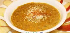 This Turmeric-Lentil Soup Will Protect You From Type 2 Diabetes, Dementia and Cancer - Healthy Food Plans Lentil Soup Recipes, Red Lentil Soup, Vegan Soups, Vegan Recipes, Cooking Recipes, Healthy Soup, Healthy Cooking, Coconut Milk Soup, Coconut Oil