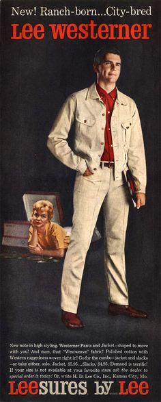 Phil Are Go!: Lee Westerner - King of the mild frontier. Leather Flight Jacket, Polished Man, Slacks, Denim Jeans, Menswear, Mens Fashion, Casual, Cotton, Jackets