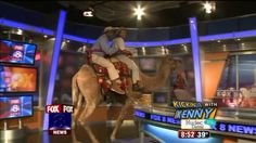A monkey, a couple of birds, a miniature horse and a camel. It's just another day when Jungle Terry pays a visit to the FOX 8 studios. Click the videos to see Kristi, Wayne, Stefani and Kenny inter...