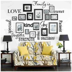 Vinyl lettering FAMILY IS sticky word quote wall art | Home & Garden, Home Décor, Decals, Stickers & Vinyl Art | eBay!