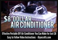 Rate this from 1 to Portable Air conditioner World's first personal air conditioner DIY Air Conditioner - Genius 18 DIY projects to get ready for Lifehacks, Homemade Air Conditioner, Redneck Air Conditioner, Tent Air Conditioner, Camping Diy, Camping Ideas, Tent Camping, Camping Hacks, Diy