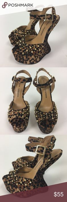Chinese Laundry - Cat Eye Studded Illusion Heels NWT Chinese Laundry - Cat Eye Studded Illusion Heels   •Leopard Fabric Upper •Gold Stud Detail Chinese Laundry Shoes Heels