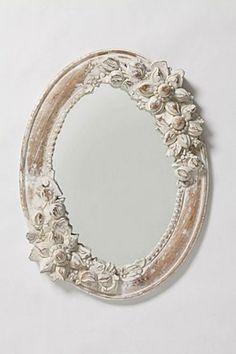 White Narcissus Mirror | Anthropologie.eu
