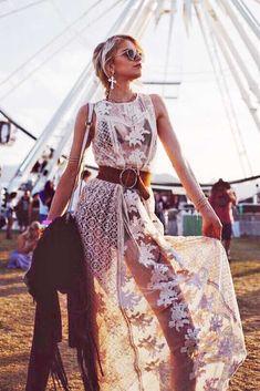 Freizugiges coachella outfit