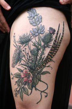 """Alice Carrier - """"Messy wildflower bramble and pheasant feathers for A.M.! Thanks so much!!!"""""""