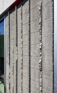 vertical board form concrete detail from DBA