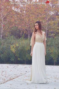 Handmade Wedding Dress, SuzannaM, Golden Wedding Gown, Long Grecian Wedding Dress, Long Wedding Gown, Lace Wedding Dress, Weddings, Adrienne