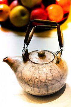 raku round teapot