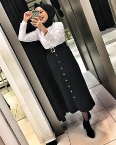 Dress For Work Business Fashionista Trends - Dress Fashionista Trends, Hijab Fashionista, Muslim Fashion, Modest Fashion, Skirt Fashion, Fashion Muslimah, Abaya Fashion, Casual Hijab Outfit, Hijab Chic