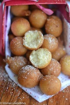 African Doughnut (Drop Doughnut) – Immaculate Bites No time to make breakfast? No problem- this only takes 15 minutes; crunchy on the outside and tender inside. Beignets, West African Food, South African Recipes, South African Desserts, Donut Recipes, Baking Recipes, Oven Recipes, Breakfast Recipes, Dessert Recipes