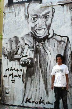 Artist Kouka Ntadi Paris, France  http://www.ozartsetc.com/2012/12/18/kouka/