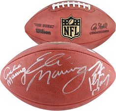 Archie, Eli, and Peyton Manning Autographed Duke Pro Football - Fanatics Authentic Certified - Autographed Footballs ** Want to know more, click on the image.