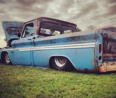 Blue Low Chevrolet C10 Truck