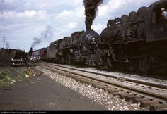 In this view, another steam engine, LV 3189 joins the 5218 in work train detail clearing up a freight derailment on the LV main at Union. New York Central Railroad, Work Train, Railroad History, Rolling Stock, Lehigh Valley, Steam Engine, Steam Locomotive, New Jersey