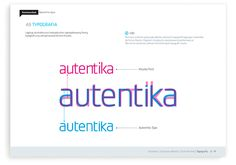Autentika brand guidelines and corporate identity.