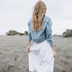 Dusty blue cashmere