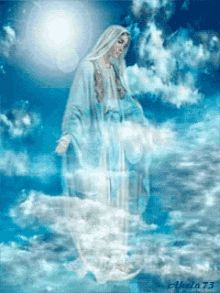 Our Lady Queen of Heaven Religious Pictures, Jesus Pictures, Religious Art, Angel Pictures, Blessed Mother Mary, Blessed Virgin Mary, Miséricorde Divine, Jesus Christ Images, Queen Of Heaven