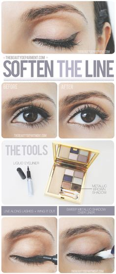 Change up your cat eye every now and then with a quick stroke of shadow!