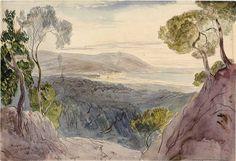 Andora, Italy by Edward Lear (1864)