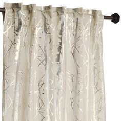 "Gold 84"" Winter Trees Curtain"