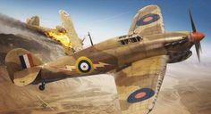 Hawker Hurricane Mk I Tropical by Adam Tooby