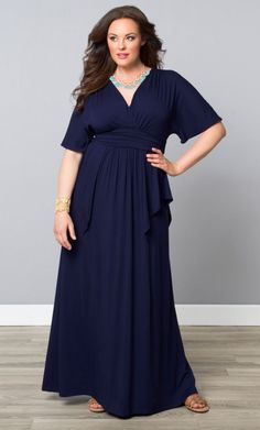 Indie Flair Maxi Dress, Mosaic Blue (Women's Plus Size) From the Plus Size Fashion Community at www.VintageandCurvy.com