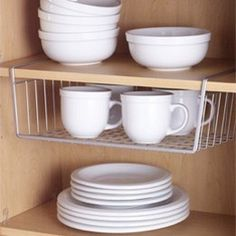 And adding cabinet organization in general to our kitchen. This is just a no brainer. We can store so many more cups/plates/bowls in one cupboard this way and maximize vertical space. I've actually organized our pantry already. I just need to take a picture and post about it.