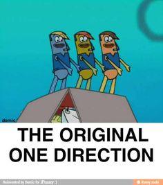 Sorry Spongebob, I prefer the current One Direction. Watch Spongebob, Funny Spongebob Memes, Funny Jokes, Hilarious, Pineapple Under The Sea, Square Pants, I Love To Laugh, Spongebob Squarepants, Dankest Memes