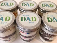 Cupcakes In A Jar-Mason Jars-Happy Dad Day!-Gifts for Dad-Gifts for Grandpop-Dad-Grandfather-I love Dad