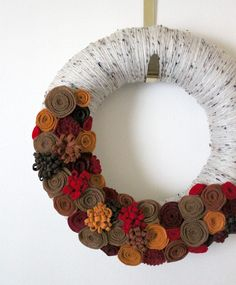 Felt wreath. Love.