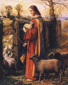 William Dyce, The Good ShepherdMatthew 18:13and if it may come to pass that he doth find it, verily I say to you, that he doth rejoice over it more than over the ninety-nine that have not gone astray (YLT)https://en.wikipedia.org/wiki/William_Dyce