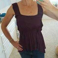 Rachel Pally deep purple top Beautiful deep purple top with elastic wasteband that creates a flattering look. New with tags! XS but I usually wear a small and it fits me well. NWT. Never worn . Rachel Pally Tops