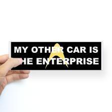 0762edbd4 My other car is the Enterprise Sticker (Bumper) for Star Trek Tv, Star