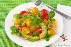 Avocado Salad with Tomatoes, Oranges & Vinaigrette Provence