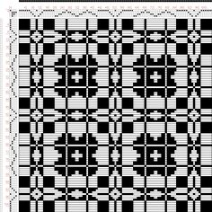 Weaving Draft frickinger-wbb-43, Frickinger, Johann Michael. Weber-Bild-Buch, from Ralph Griswold's archive, 2004-2015, #32358